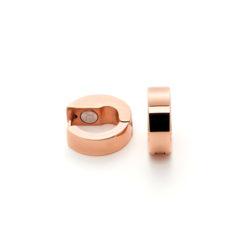 Cercei Creole Energetix cu magneţi, placaţi cu aur roz