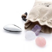 Energetix WaterQuartet - piatră oţel inoxidabil cu magnet incorporat, ametist, cristal de cuarţ roz şi cristal de stâncă pentru magnetizarea băuturii