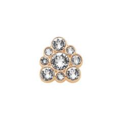 Element decorativ pentru inel, cu cristale Swarovski, aur