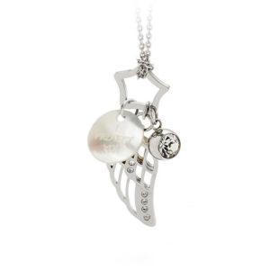 Pandantiv Energetix, de damă, terapeutic, cu magneţi, cu cristale Swarovski, cu sidef