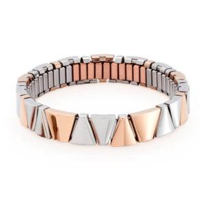 Brăţară Flexibilă Energetix, aur roz, cu insertii de cupru, cu magneţi