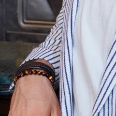 Bratara Energetix, din piele naturala, pentru barbati, terapeutica, cu magneti