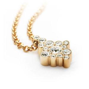 Pandantiv magnetic Energetix, aur, cristale Swarovski
